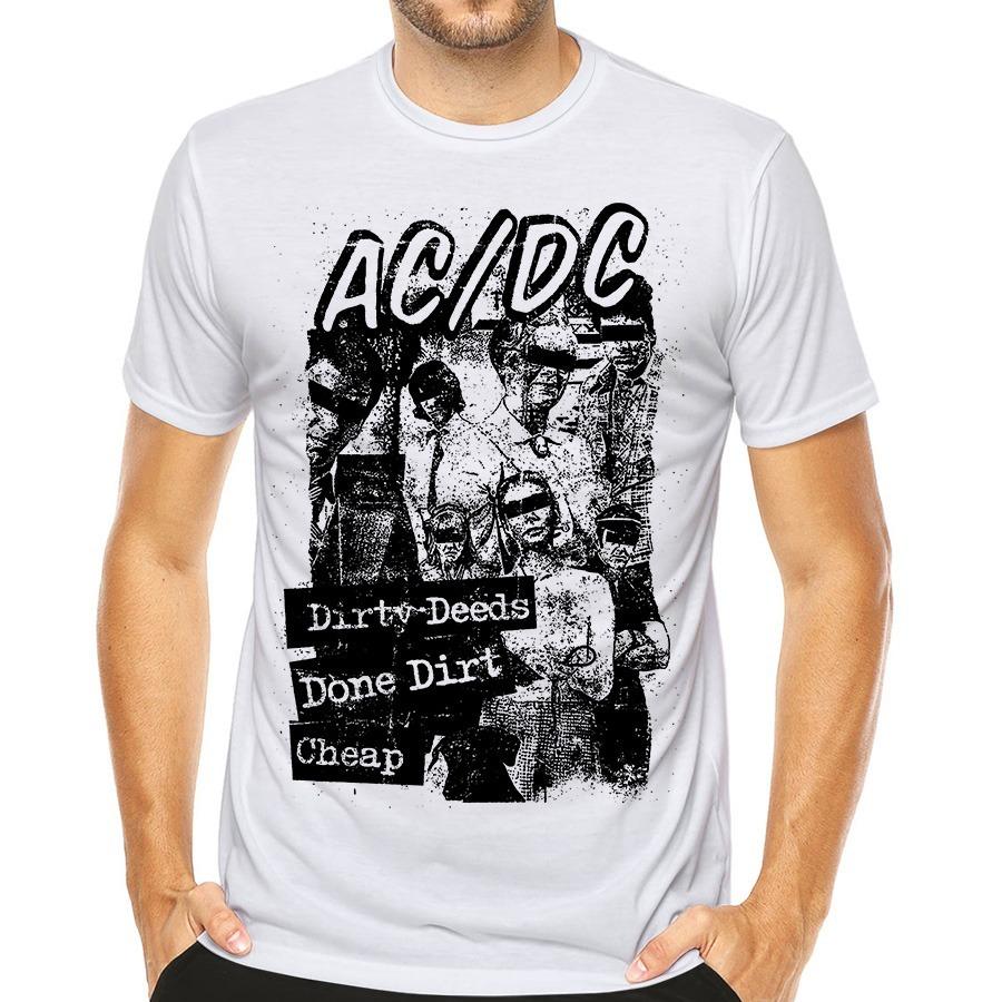 camiseta bandas de rock camisa ac dc banda acdc. Carregando zoom. 13e67fffd0e0d