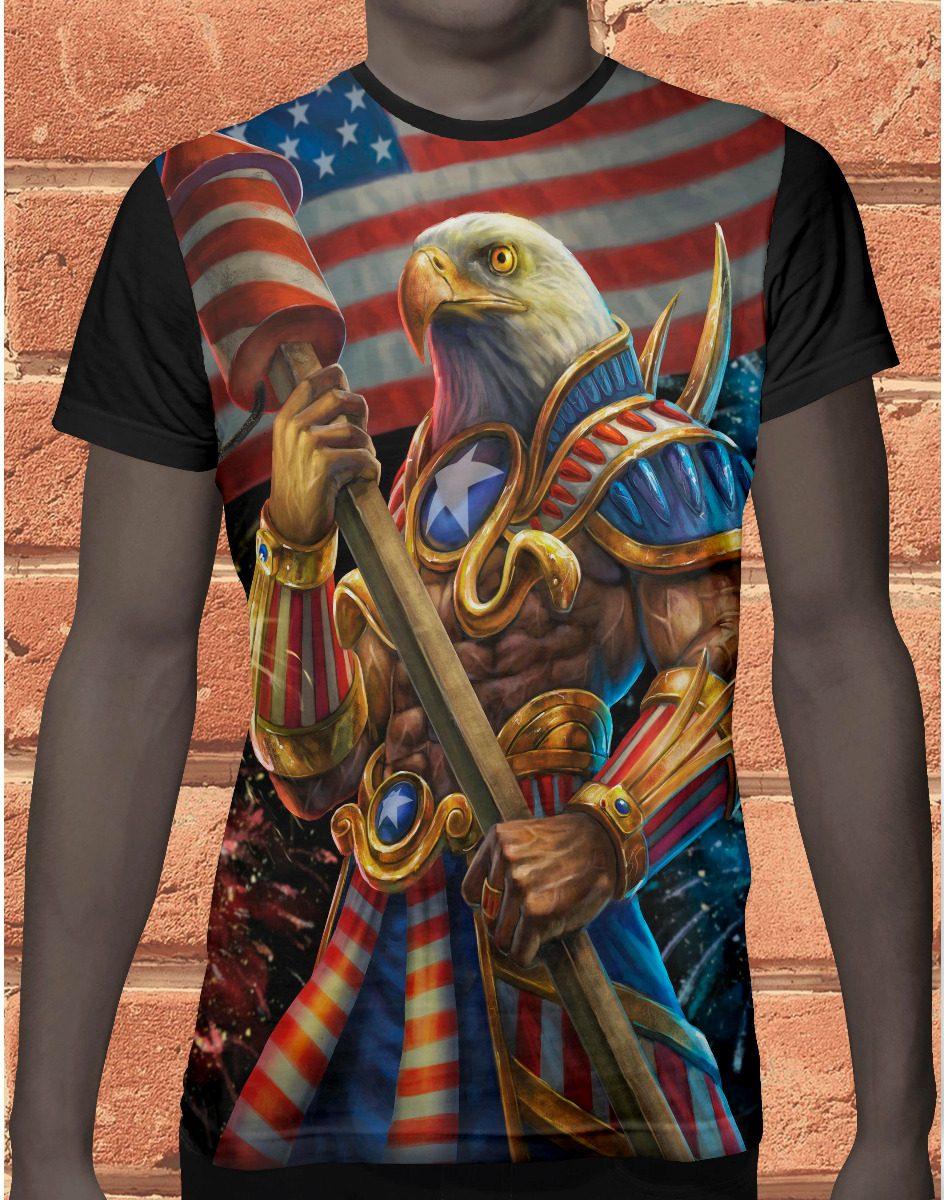 camiseta bandeira aguia americana eua 935 frete gratis. Carregando zoom. bd8c6d757ac21