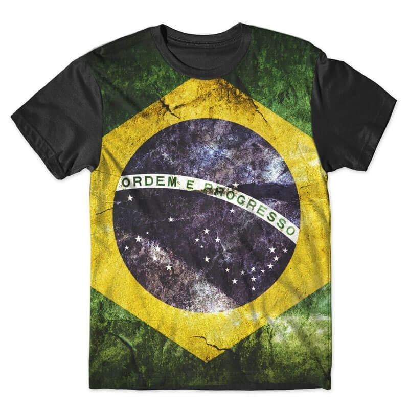 50ed27c86e Camiseta Bandeira Do Brasil Style Flag Brasil Camisa - R  59