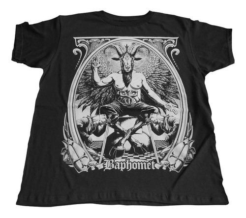 camiseta baphomet carnero dark soul rock activity