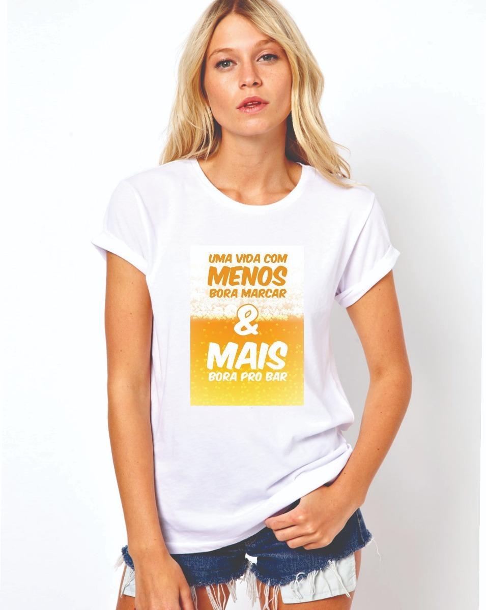 Camiseta Bar Branca Em Poliéster Cód 0220 - R  69 de1e7907e3f