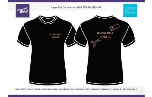 camiseta barbearia senior