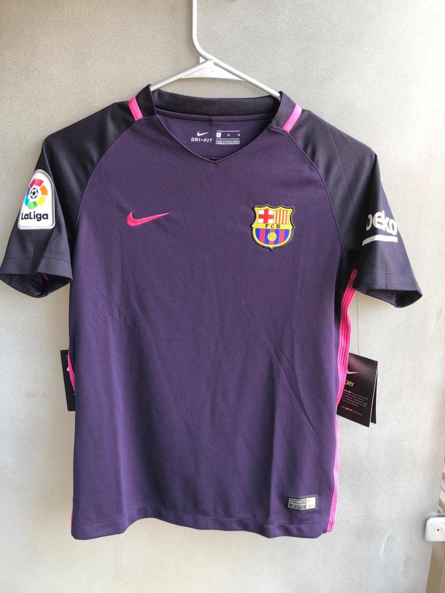 2e185957a Camiseta Barça (barcelona) Morada Y Rosa Talla M Niño -   450.00 en ...
