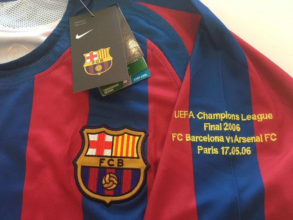 b7530391a camiseta barcelona -  10 ronaldinho - final champions 2006. Carregando zoom.