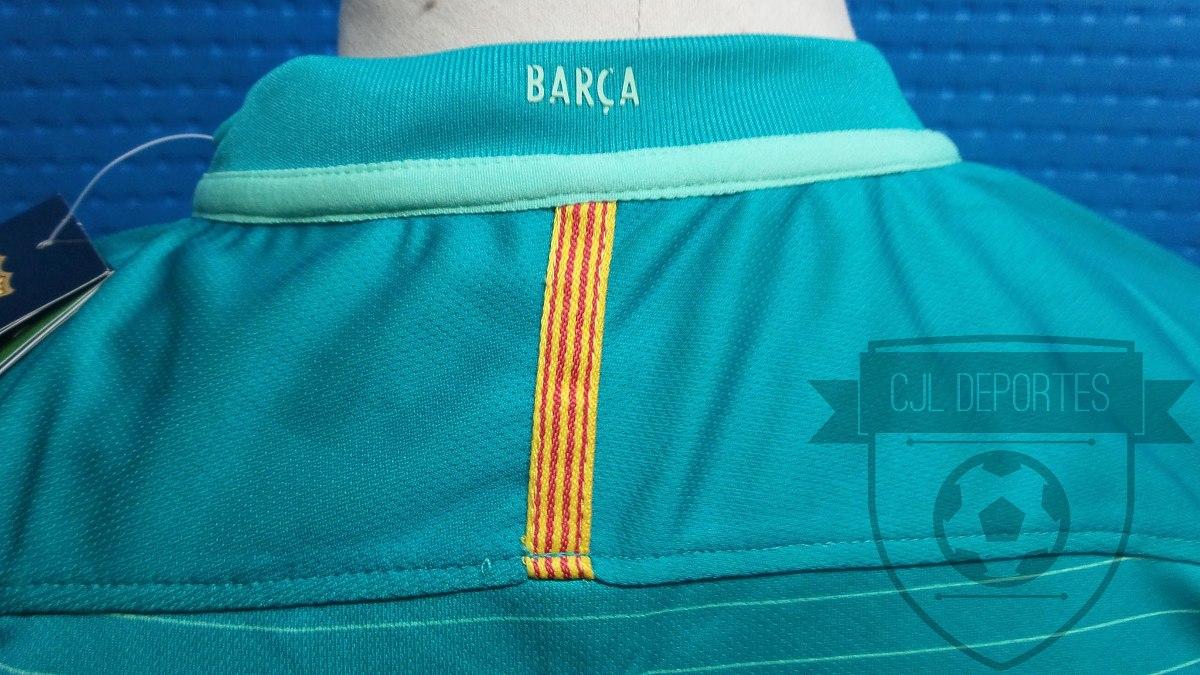 camiseta barcelona 2016 2017 nike suplente verde champions 3. Cargando zoom. 56d6bf53c5e70