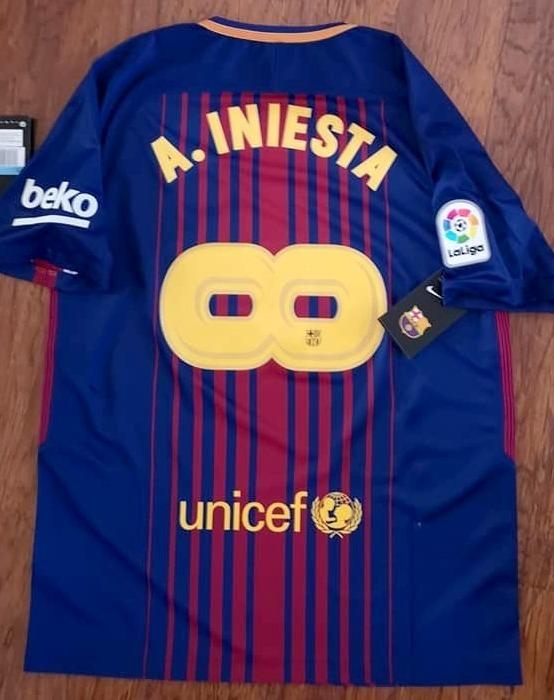 Camiseta Barcelona 2018 Iniesta Infinito Despedida Homenaje ... 1c54bf23cada9