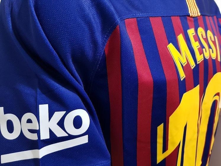 5ecb405b6ef9e Camiseta Barcelona 2018 2019 Messi  10 Campeon Liga Vapor ...