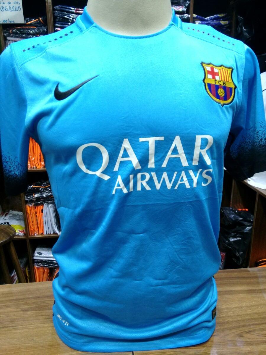 camiseta barcelona azul - modelo novo - original. Carregando zoom. ed7b7ebf57d7e