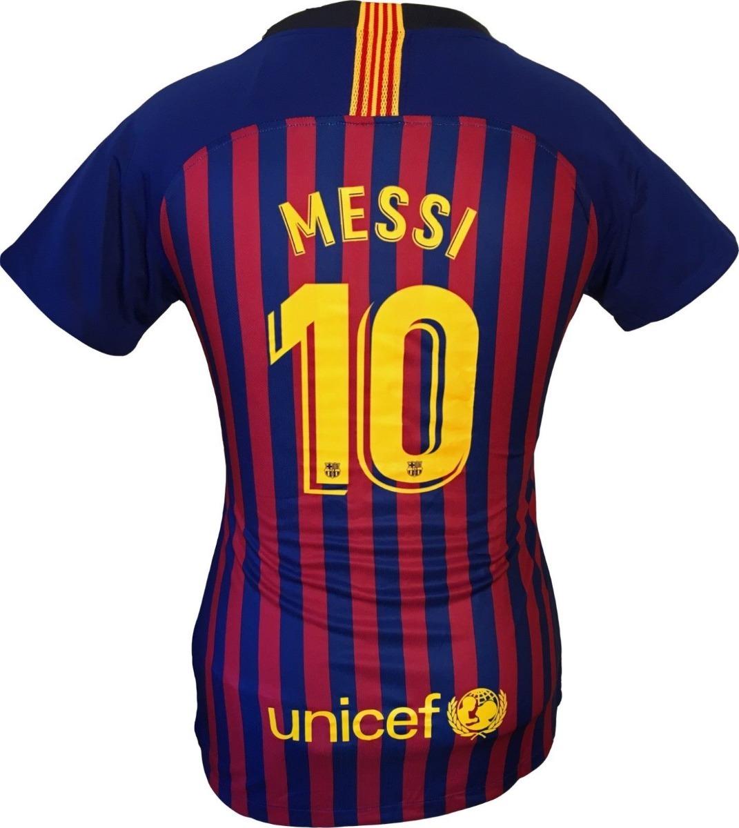 9911e9c6db9f1 camiseta barcelona f.c 2018 2019 messi 10 para mujer oficial. Cargando zoom.