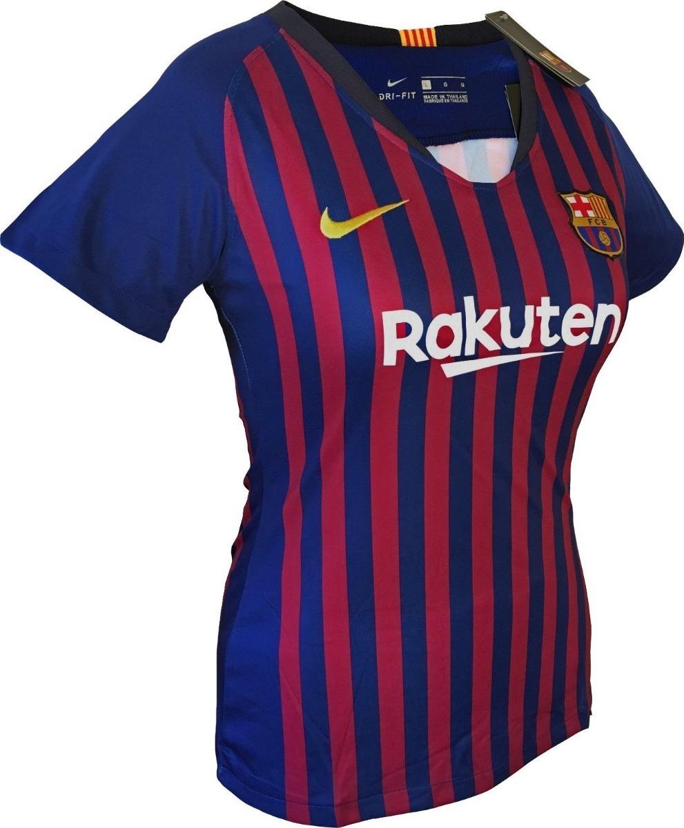 0c7da4c9d7112 Camiseta Barcelona F.c 2018 2019 Para Mujer Oficial -   105.000 en ...