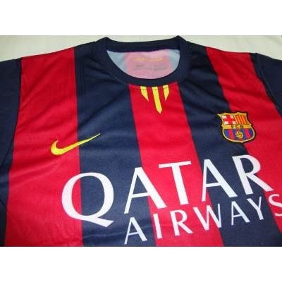 Camiseta Barcelona Fc Local 2014-2015 Estampada Messi - Bs. 0 4e2b0093d4d