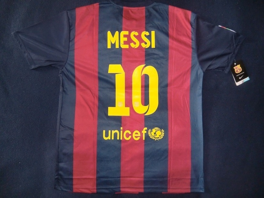 camiseta barcelona fc local 2014-2015 estampada messi. Cargando zoom. f987495bed6