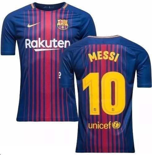 78d7ea7f75 Camiseta Barcelona Home Original 2017 2018 Messi + Patch Ll - R  139 ...