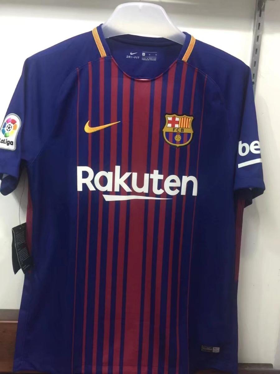 59e813c3e5 camiseta barcelona home original 2017 2018 messi + patch ll. Carregando  zoom.