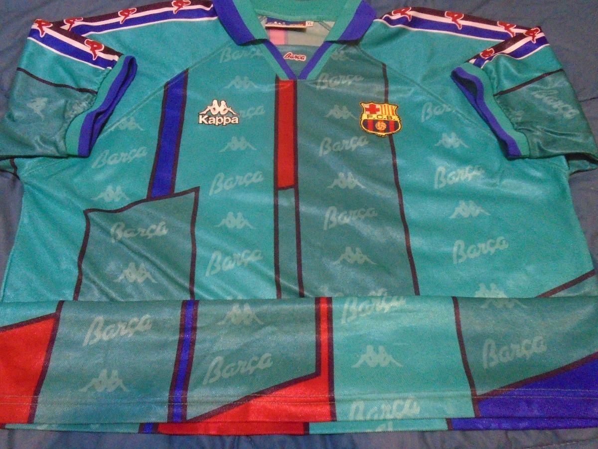 camiseta barcelona kappa 1996 1997 ronaldo  9 brasil xl xxl. Cargando zoom. 73b480b6ae517