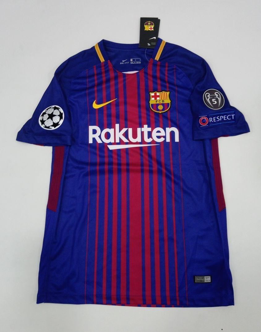 69a46dc5d2692 Camiseta Barcelona Messi 10 Version Champions 2017-2018 -   265.000 ...