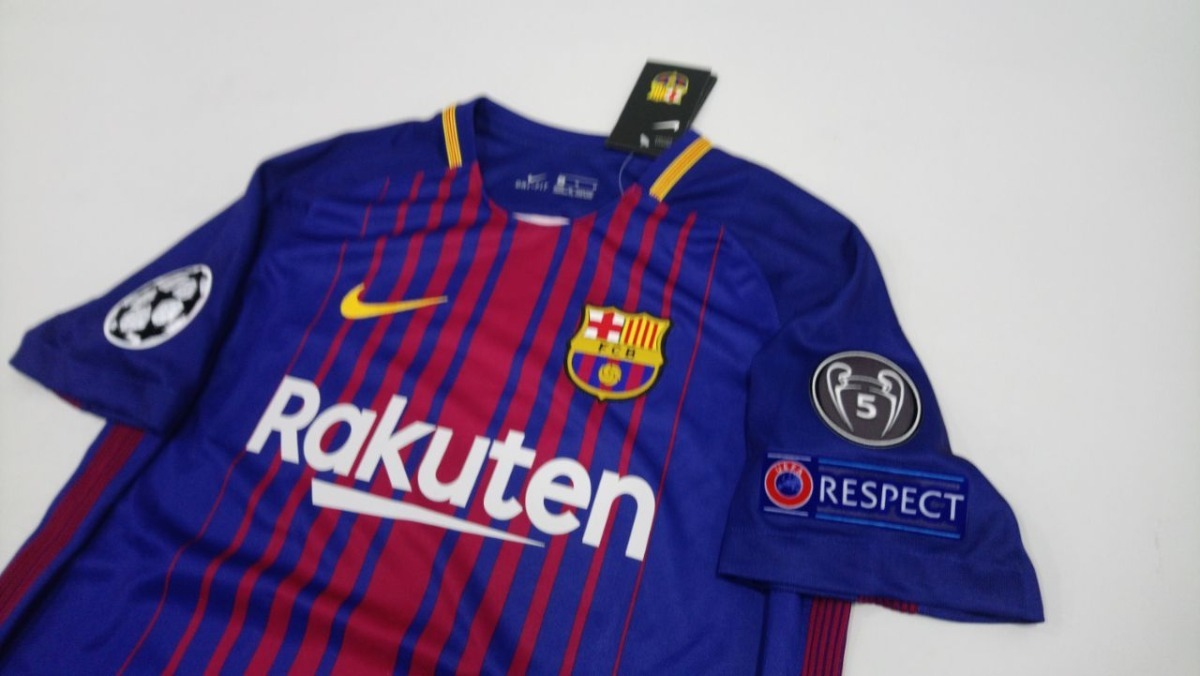 Camiseta Barcelona Messi 10 Version Champions 2017-2018 -   265.000 ... 10772f6a5d254