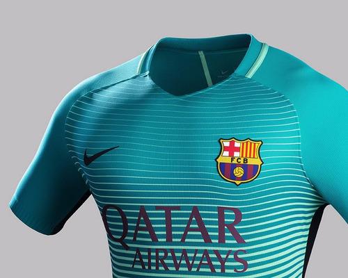 camiseta barcelona morada y verde  2016 2017 oferta