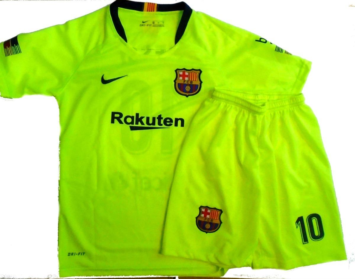 a632f3c1fb Conjunto Camiseta Short Alternativo Barcelona Niño 2018  19 -   650 ...