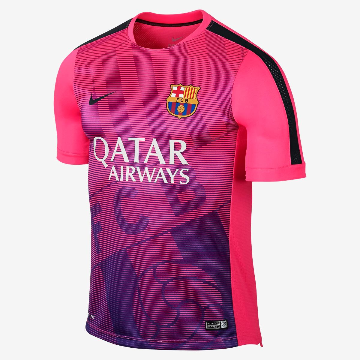 2a7a98759b Camiseta Barcelona Original Nike Squad Pré-jogo Ii - V2mshop - R ...