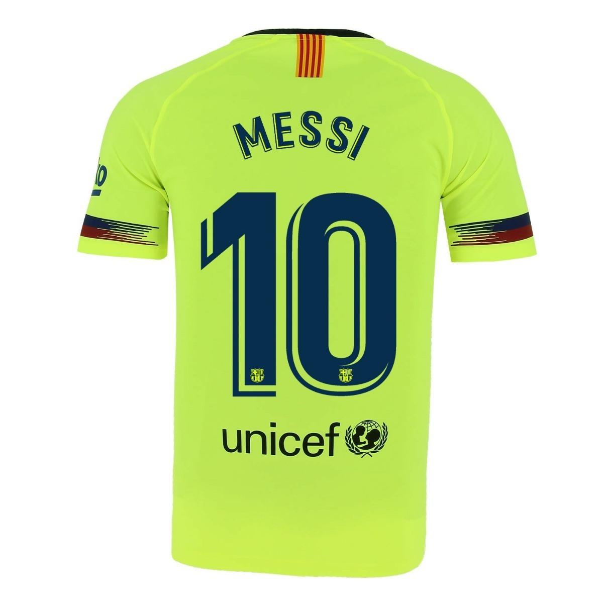 Camiseta Barcelona Suplente Amarilla   10 Messi 7 Coutinho -   1.599 ... 4a353ba8a06