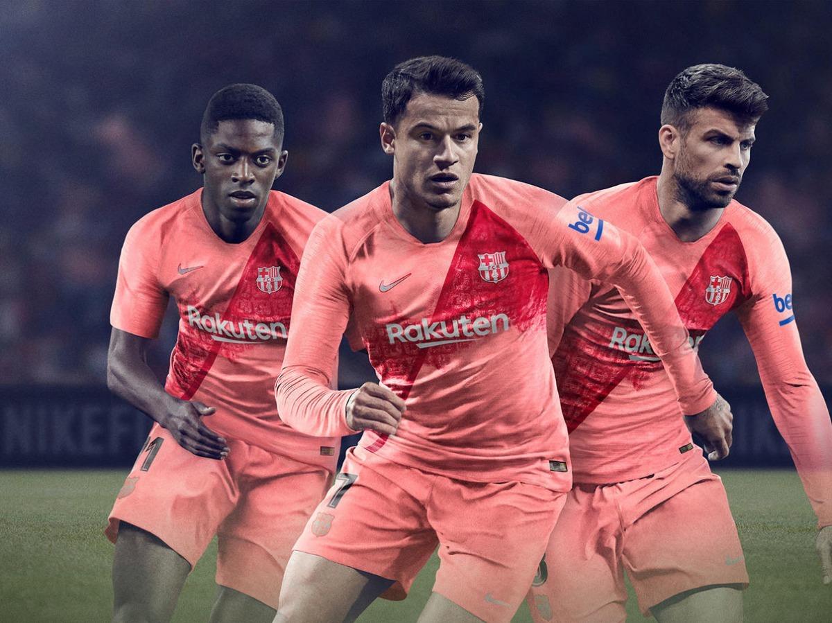 camiseta barcelona temporada 2018 2019 segunda equipación. Cargando zoom. 2be93c27711