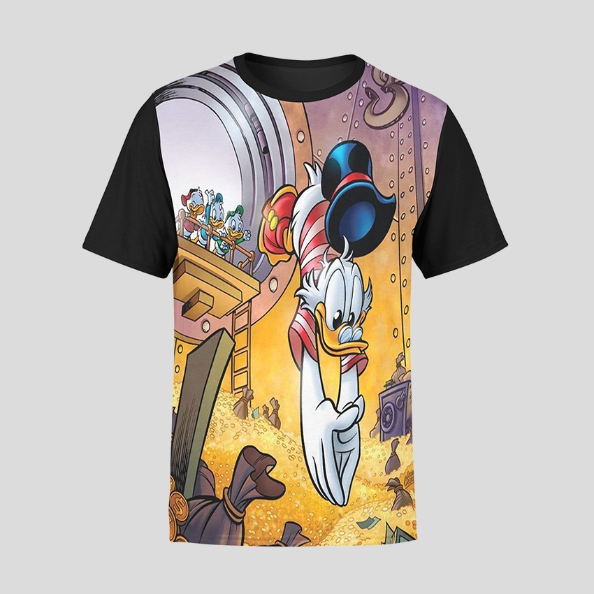 Camiseta Basic Unissex Tio Patinhas Desenho Animado Money