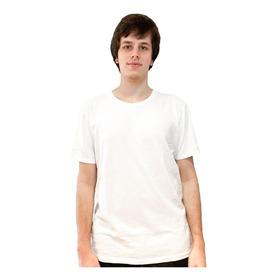 Camiseta Básica Branca 100% Algodão