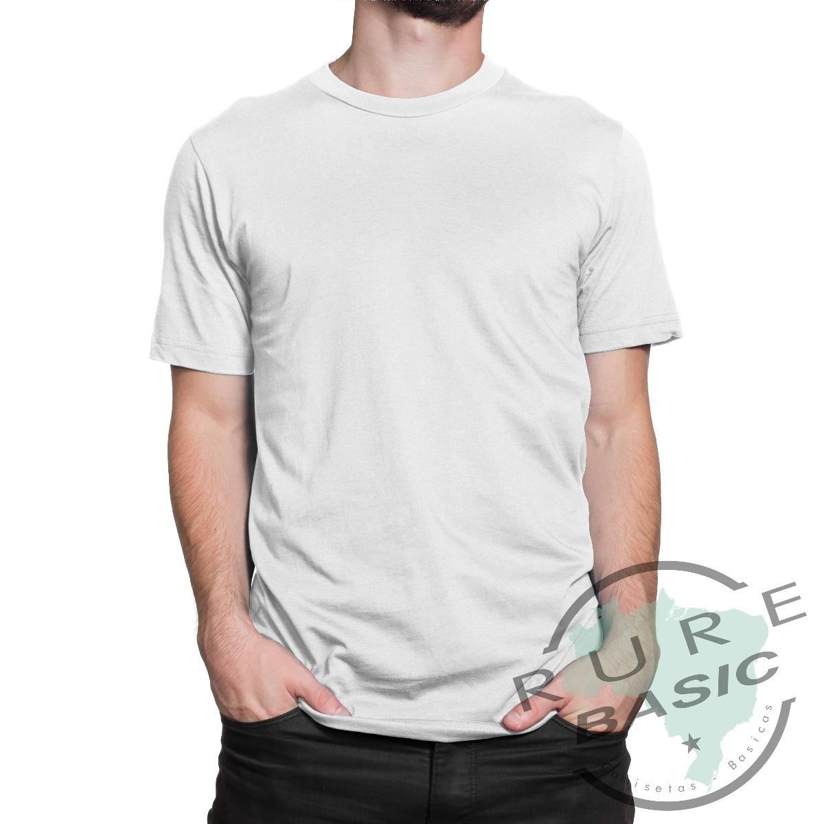 c3d6232f56 camiseta basica branca 100% algodão fio 30.1 com reforço. Carregando zoom.