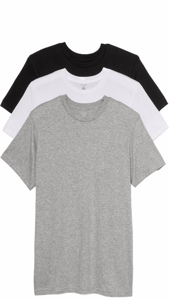 Camiseta Básica Calvin Klein Canoa-100% Original - Ver Cores - R  55,00 em  Mercado Livre a9a813acd2