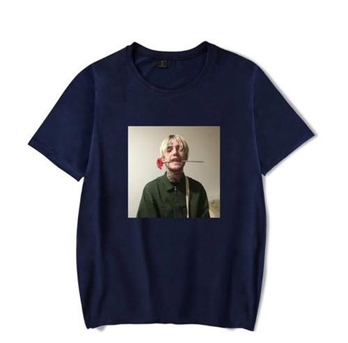camiseta básica camisa rapper lil peep gustav elijah unissex