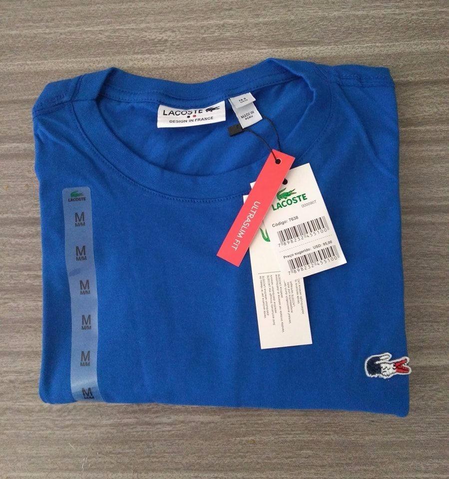 camiseta basica lacoste frança original tshirt peruana. Carregando zoom. 61558a31fd5f4