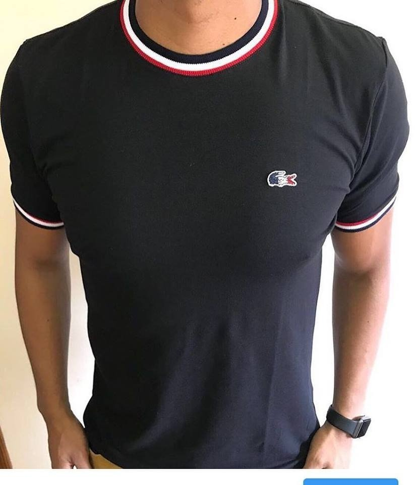acc99c95cfe05 camiseta basica lacoste frança original tshirt pima cotton. Carregando zoom.