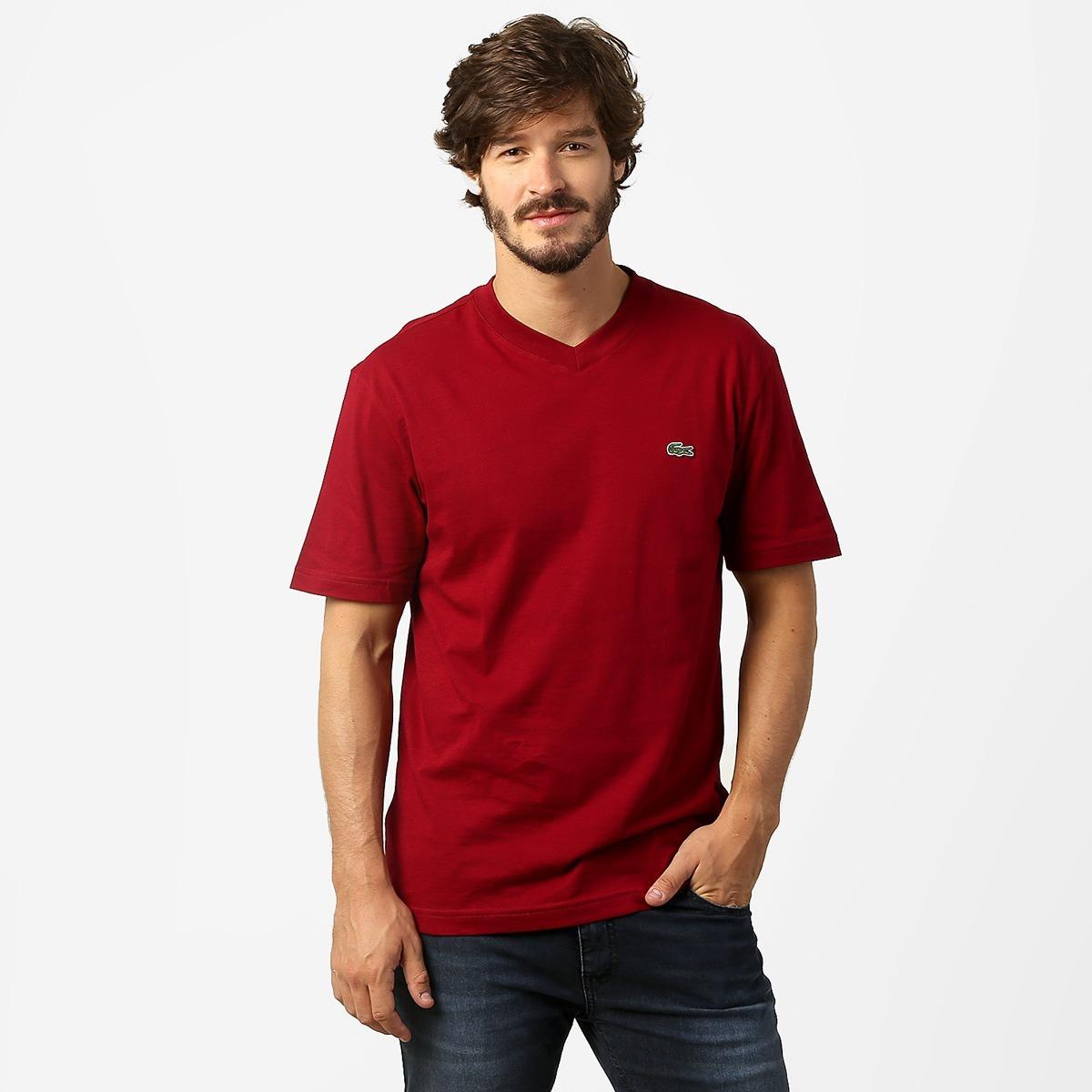 bea598f872b Camiseta Basica Lacoste Original Cotton Pima Peruana - R  120