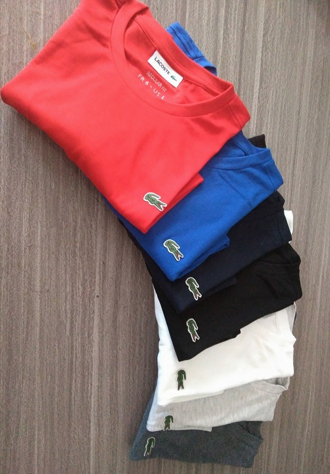 7f3b00b871243 Camiseta Basica Lacoste Original Cotton Pima Tshirt Peruana - R  120 ...