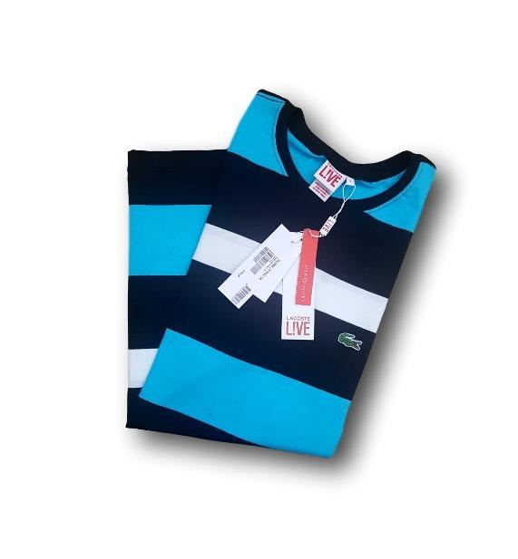 Camiseta Basica Lacoste T Shirt Original Peruana Listrada - R  57,00 ... bd0597bbfa