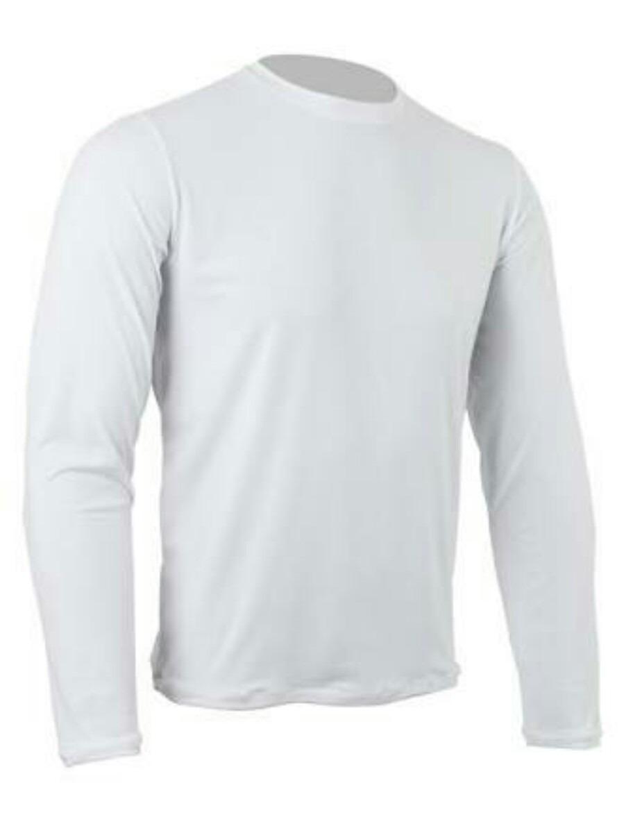 15c2e9d33 camiseta básica malha fria mangá longa branca. Carregando zoom.