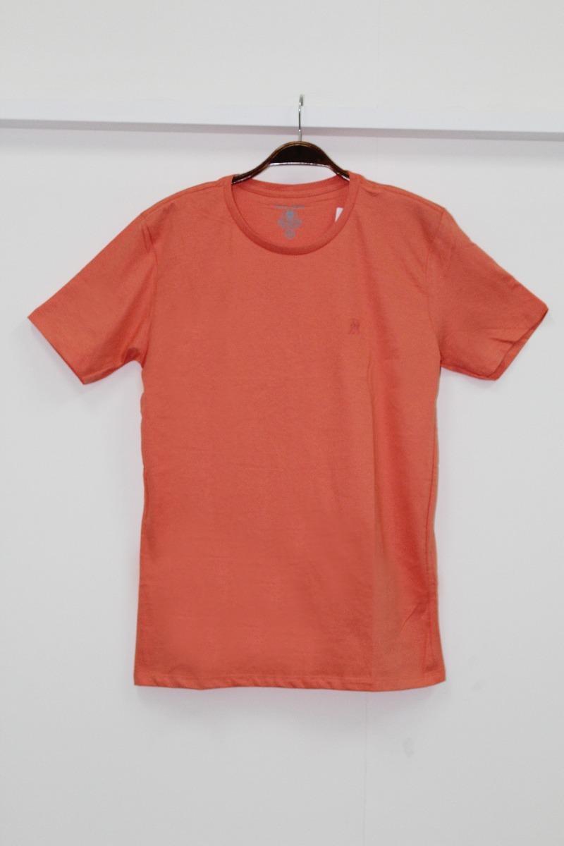 7404ea7afb camiseta básica masculina polo wear laranja p000013679. Carregando zoom.