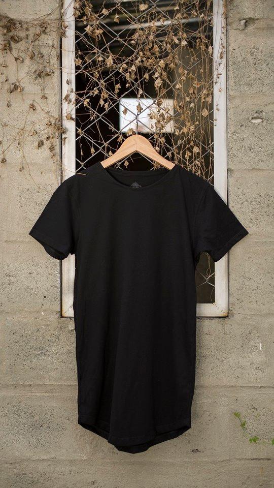 Basica Hombre Mujer Camiseta Negra rBWdCxoe
