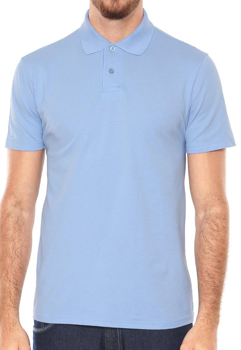 2f05c60b781bf camiseta básica polo sem bolso lisa malha azul m malwee. Carregando zoom.
