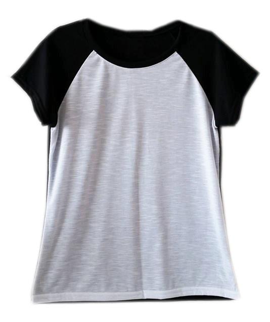 7e097e6fa1 Camiseta Básica T Shirt Lisa Blusa Top Feminina Preta Branca - R  73 ...