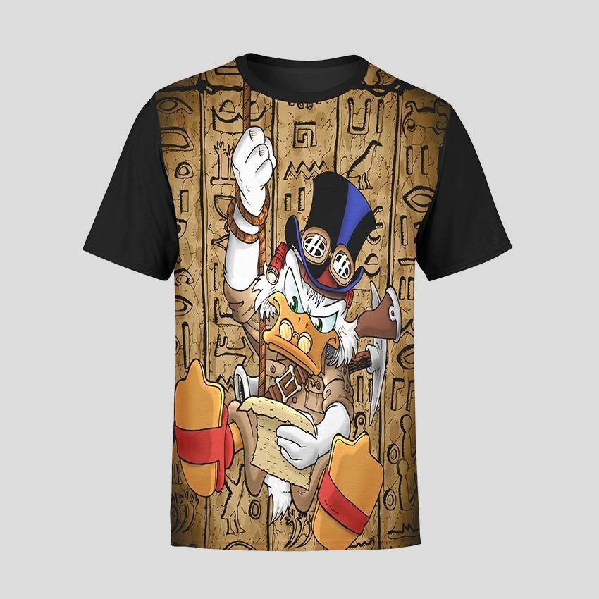 Camiseta Basica Unissex Tio Patinhas Desenho Animado Anos 80