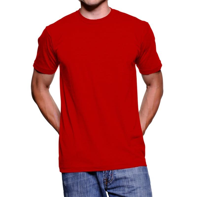 ea7c988e1 camiseta básica vermelha lisa masculina de algodão. Carregando zoom.