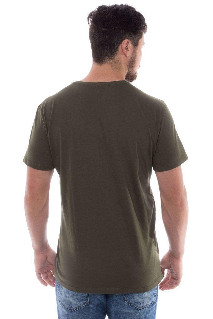 24e853451 camiseta básica z-32 gola redonda verde militar. Carregando zoom.