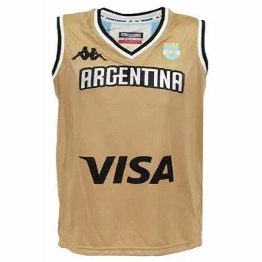 1fcc46e8beec1 camiseta básquet argentina dorada kappa cabb 2016. Cargando zoom.