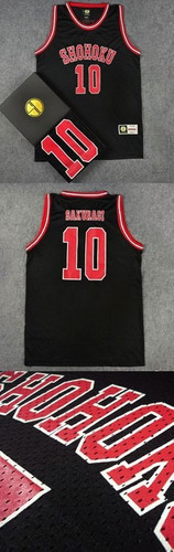 camiseta basquete shohoku #10 sakuragi slam dunk - confira!