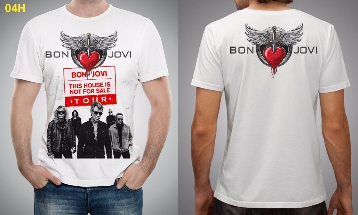 829ca53ec Camiseta  Bata Canoa  Baby-look  Cropped Show Bon Jovi Sp - R  79