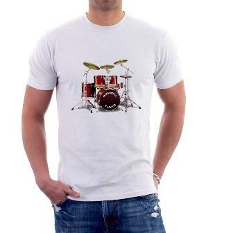 camiseta bateria musical