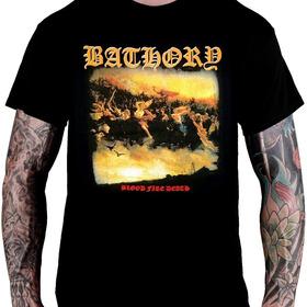 Camiseta Bathory - Blood Fire Death (tamanho G)