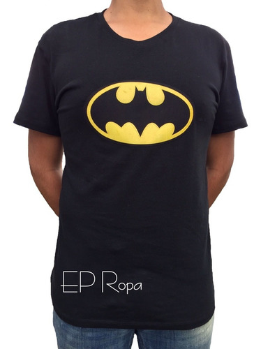 camiseta batman superheroes dc estampado hombre niño